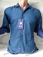 """Рубашка мужская байковая (44-52) """"Rossi"""" - купить оптом со склада на 7 км ZR-4473"""