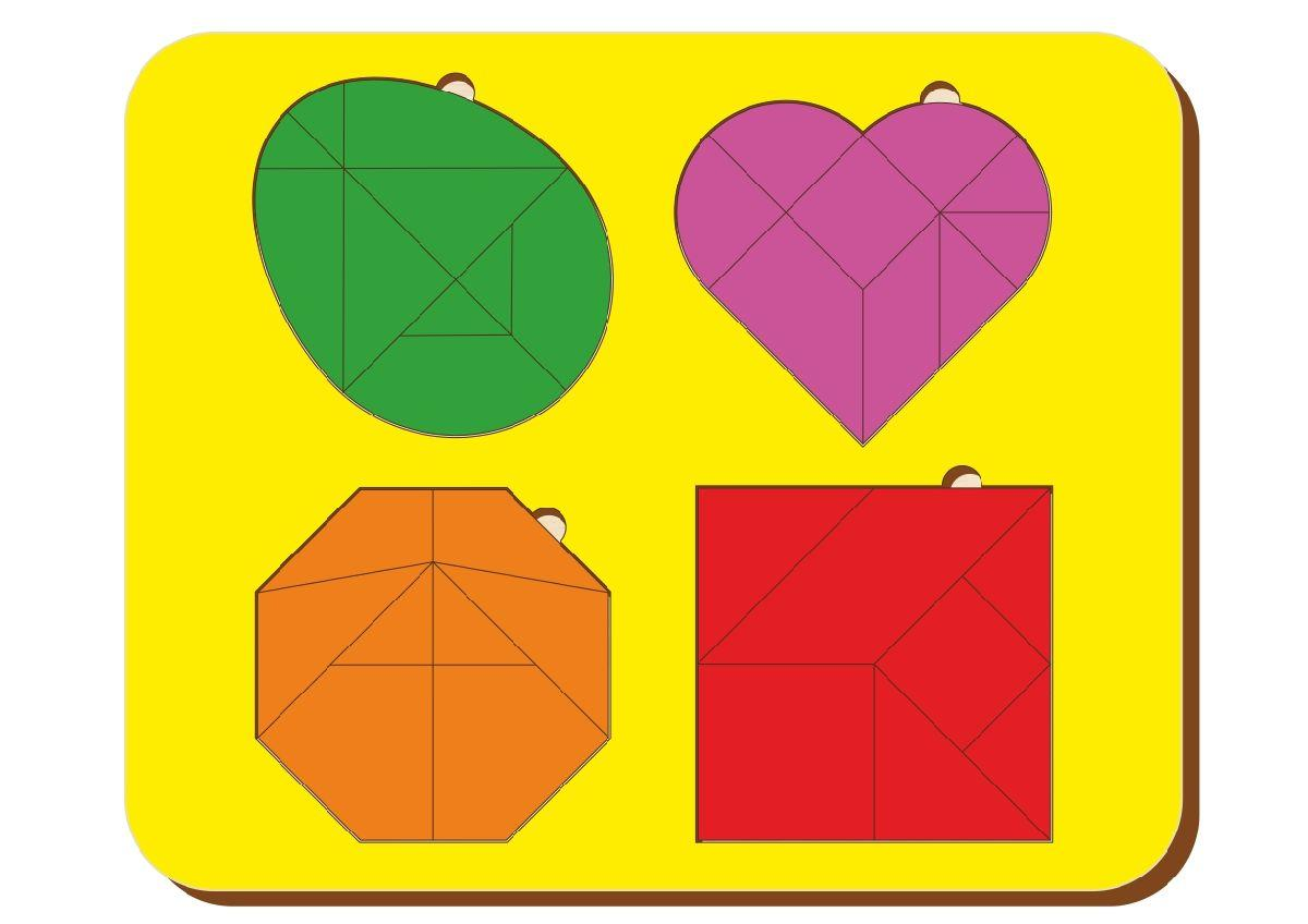 Набор из 4-х головоломок, размер 170*240 мм, арт. 083306