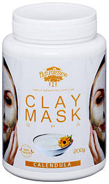 Глиняная маска Очищает и сужает поры, от воспалений и высыпаний, с календулой