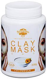 Глиняная маска с календулой