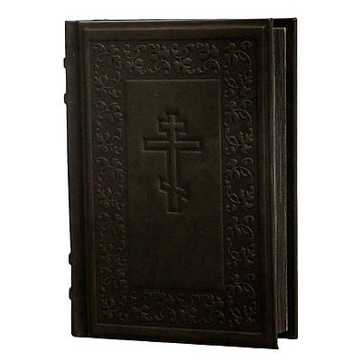 Библия средняя (17х11х3) в кожаном переплете