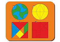 Набор из 4-х головоломок, размер 170*240 мм, арт. 083305