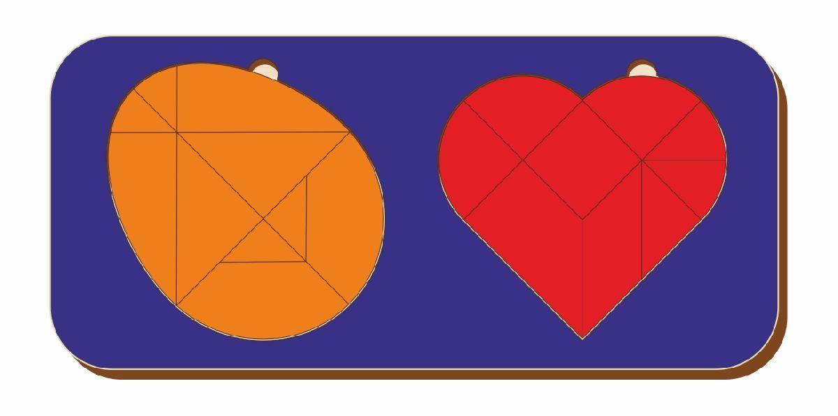 Набор головоломок «Колумбово яйцо и листик», размер 110*240 мм, арт. 083304