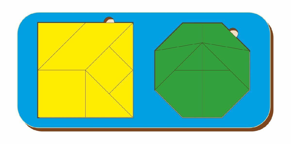 Набор головоломок «Октагон и головоломка Пифагора», размер 110*240 мм, арт. 083303