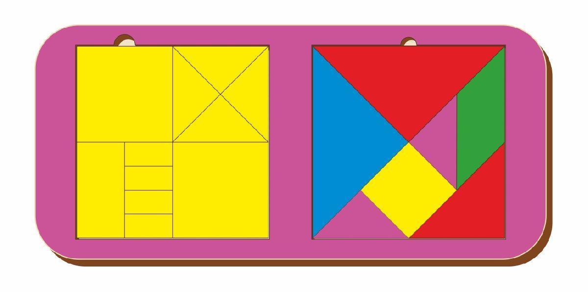Набор головоломок «Монгольская игра и танграм», размер 110*240 мм, арт. 083302