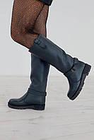Сапоги женские кожаные зимнее в 4х цветах 1793 кожа/цигейка