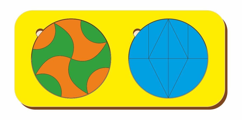 Набор головоломок «Чудесный круг и волшебный круг», размер 110*240 мм, арт. 083301