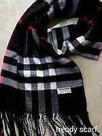 Женский шарф палантин Burberry Бренд. Черный, красный, белый.Фирменый принт. Барбари.Пашмина180\70