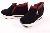 Ботиночки сникерсы на платформе Moschino черные с марсала 36 по 40 р