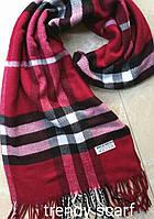 Женский шарф палантин Burberry Бренд. Бордовый, черный, белый.Фирменый принт. Барбари.Пашмина180\70