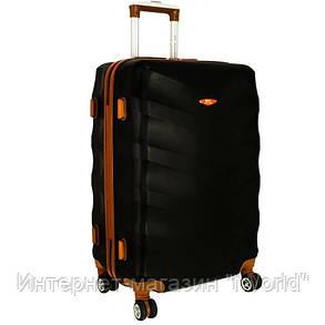 Дорожный чемодан из поликарбоната на 8-х колесах (большая) RGL 6881 Exclusive черного цвета, фото 2