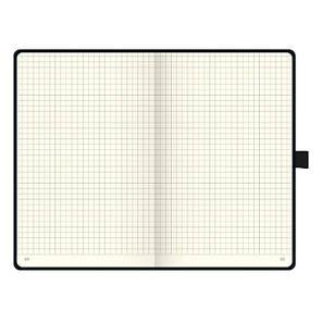 Книга записная А5 Brunnen Компаньон, клетка, черная бирюзовый срез, фото 2