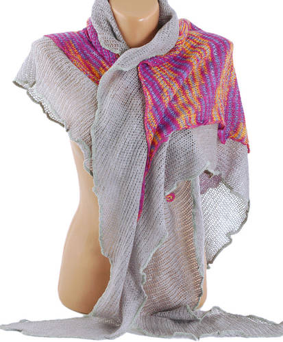 Прекрасный женский платок, Trаum 2483-18, мохер, 180х80 см, цвет серый.