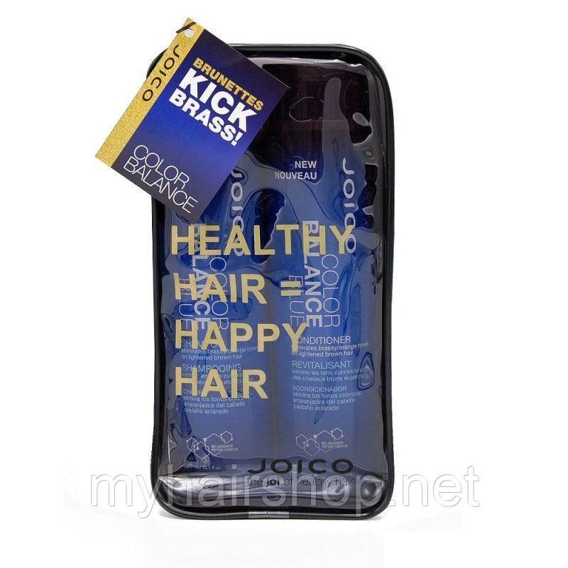 Набор восстанавливающий баланс Голубой Joico Color Balance Blue shampoo and Conditioner duo 300ml+300ml
