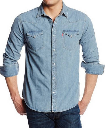 Джинсовая рубашка Levis Barstow Western - Light Stonewash(L)