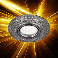 Встраиваемый светильник Feron CD877 с LED подсветкой прозрачный 28604