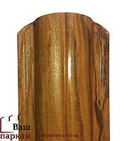 Евроштакетник золотой дуб 3D, фото 1