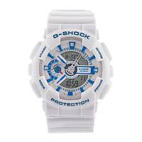 Стильные унисекс часы Casio  G-SHOCK GA-110 WHITE  (касио джи шок)