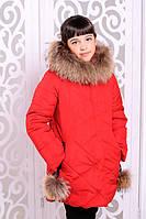 Красивая куртка, пальто зима для девочки  34, 36, 38, 40 размер.Детская верхняя зимняя одежда!