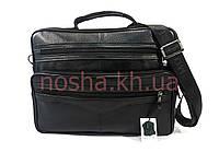 Мужской кожаный портфель черный