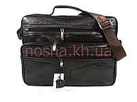 Бизнес сумка из натуральной кожи коричневая