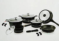 Набор посуды Royalty Line ES-1014M black, фото 1