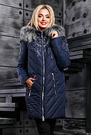 Женская зимняя куртка синего цвта