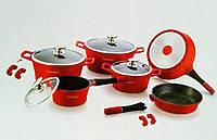 Набор посуды Royalty Line ES-1014M red