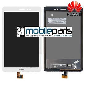 """Оригинальный Дисплей (Модуль) + Сенсор (Тачскрин) для  Huawei T1 8.0"""" (S8-701u) MediaPad (Белый)"""
