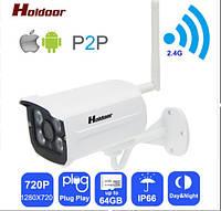 Беспроводная легконастраиваемая 1мпс Wi-Fi камера видеонаблюдения  с фокусным расстоянием от 2,8 до 8мм