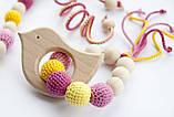 """Подарочный набор для мамы и малыша: слингобусы и грызунок Ярмирина """"Маргаритки"""" бук, фото 3"""