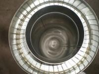 Труба диаметром 250/320 для дымохода из нержавеющей стали марки  AISI304 в нержавеющем кожухе толщиной 1 мм
