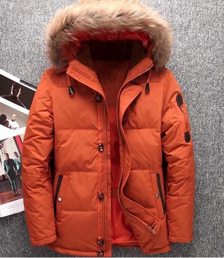 52fc3f9b4047 Оранжевый Мужской пуховик парка куртка зимняя - Интернет-магазин одежды  Fashion-Ua в Харькове