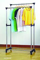 Подвійна телескопічна стійка для одягу - Double Pole Clother Hose, фото 1