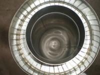 Труба диаметром 140/200 для дымохода из нержавеющей стали марки  AISI 304 в оцинкованном кожухе толщиной 0,8