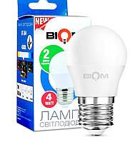 Светодиодная лампа Biom G45 4w E27 4500K