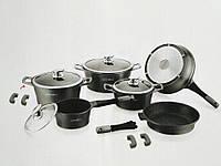 Набор посуды Royalty Line RL ES-1014M silver