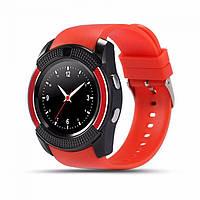 Смарт Часы Smart Watch Phone V8 Красные. Шагометр.