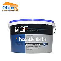 Краска MGF Fassadenfarbe краска фасадная латексная МГФ Фасаденфарба (14кг)