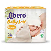 Подгузники baby soft 0 premature 0-2.5 кг (24 шт.) Libero 3861