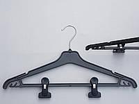 Плечики вешалки пластмассовые Marc-Th WPN42-P черные, 42 см