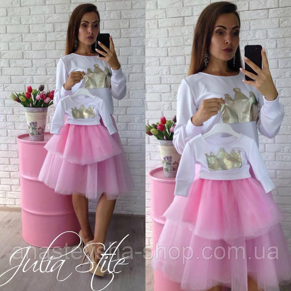 e6415456661 Комплект Family look мама костюм+дочка костюм (под заказ от 3-5 дней ...
