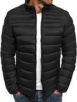 Цветная мужская зимняя стёганая куртка без капюшона