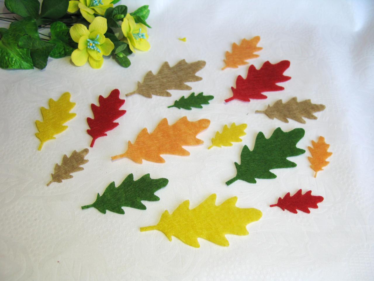 Осенние листья из фетра. Дуб
