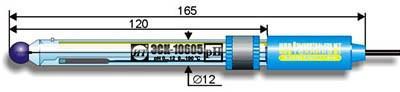 Комбинированный pH-электрод ЭСК-10605 со встроенным термодатчиком