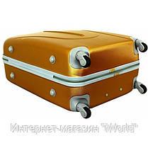 Дорожный чемодан из поликарбоната на 4-х колесах (большая) RGL 883 черного цвета, фото 3