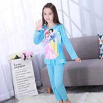 Пижама для девочки трикотаж принцессы с оборочкой, фото 2