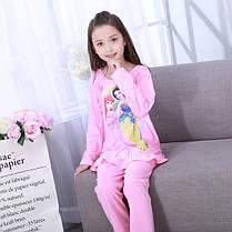 Пижама для девочки трикотаж принцессы с оборочкой, фото 3