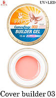 F.O.X camouflage builder gel 003, камуфлирующий гель, розово-бежевый 15 мл