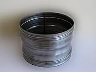 Переходник для дымохода из нержавеющей стали марки AISI 304 диаметром 100